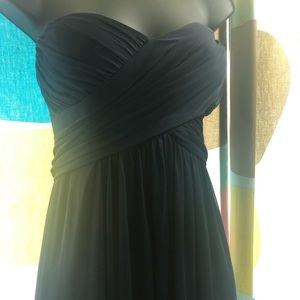 Camille Le Vie Navy blue strapless dress size 14